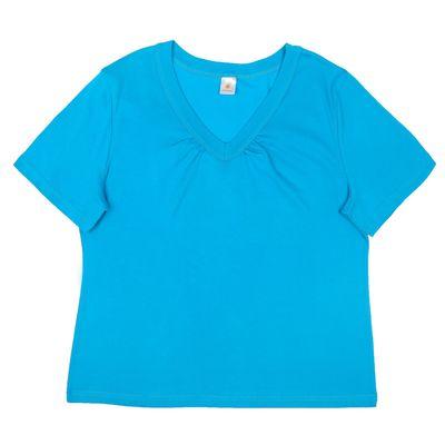 Футболка  женская Р155387, цвет бирюзовый, рост 158-164 см, размер 44 (88)