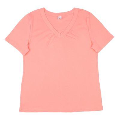 Футболка  женская Р155387, цвет розовый, рост 158-164 см, размер 60 (120)
