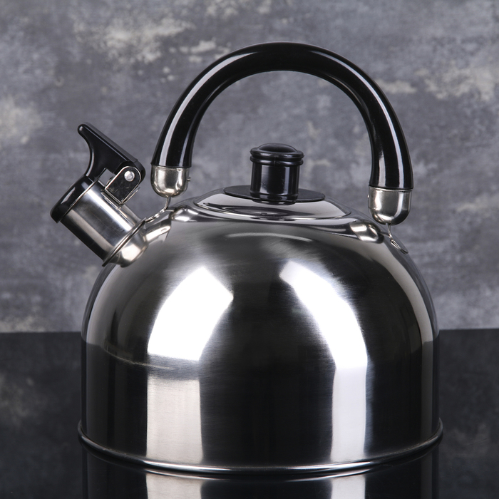 """Kettle """"Black night"""", max. volume 3 l, with whistle,fixed handle"""