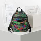 Рюкзак на молнии, 1 отдел, наружный карман, цвет зелёный