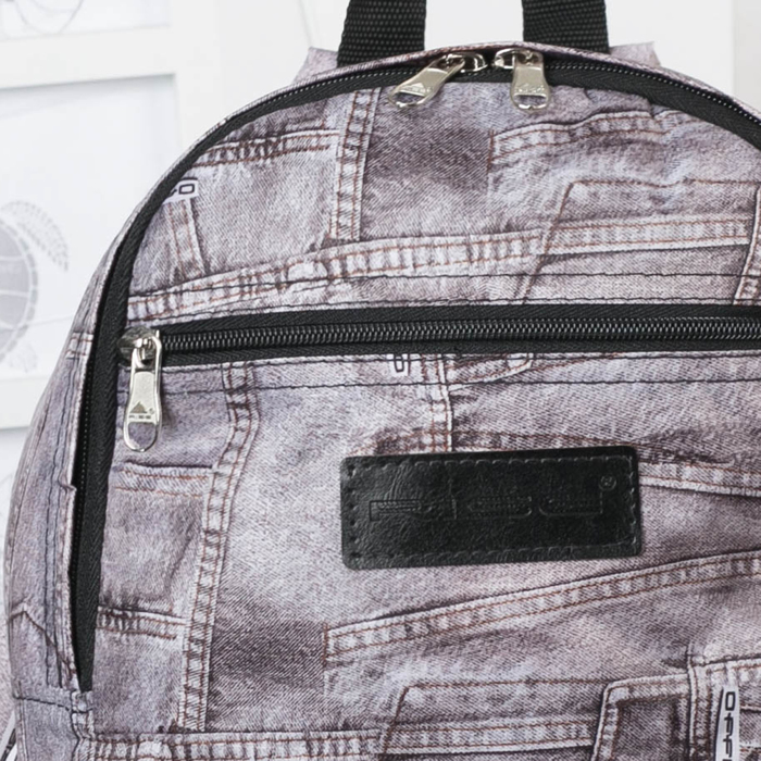 Рюкзак молодёжный, отдел на молнии, наружный карман, цвет серый - фото 415624243