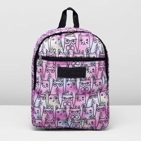 Рюкзак на молнии, 1 отдел, наружный карман, цвет розовый Ош