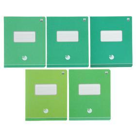 Тетрадь 24 листа в клетку «Оттенки зелёного», бумажная обложка, МИКС