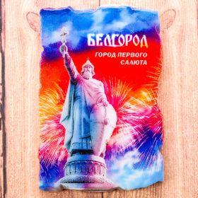 """Магнит в форме фрески """"Белгород. Князь Владимир"""", 8*5 см"""