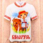 Магнит в форме футболки «Беларусь»