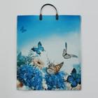 """Пакет """"Бархатные бабочки"""", полиэтиленовый с пластиковой ручкой, 38 х 45 см, 100 мкм - фото 308291596"""