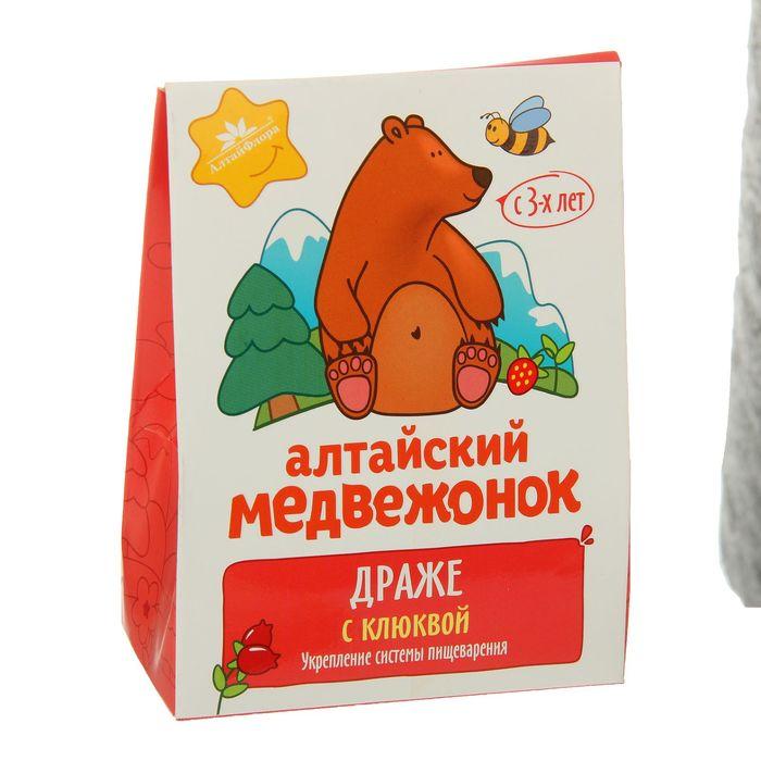 """Драже """"Алтайский медвежонок"""" с клюквой, 75 г"""
