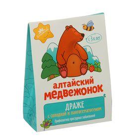 """Драже """"Алтайский медвежонок"""" с солодкой и пантогематогеном 75 г"""
