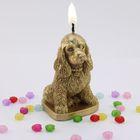 Свеча-собака «Коккер-спаниель», бронзовый цвет