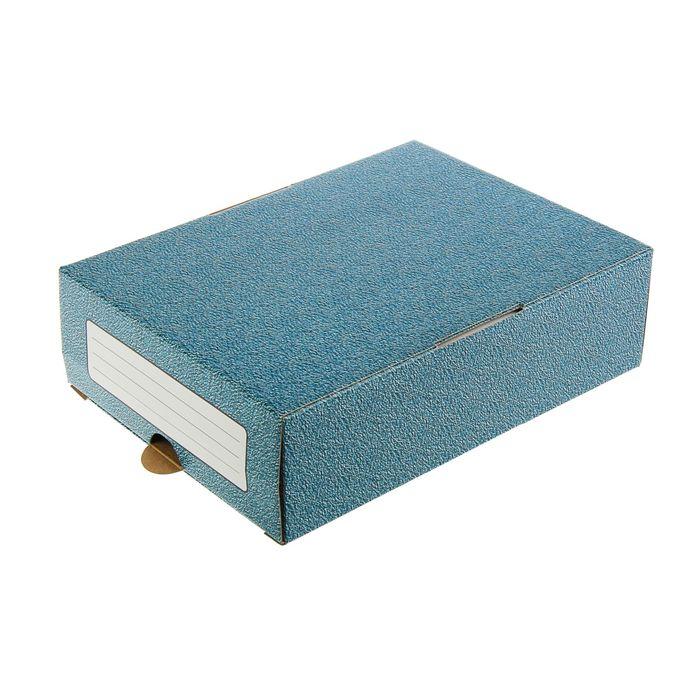 Короб архивный с выдвижным лотком из микрогофрокартона А4, 340х250х100мм