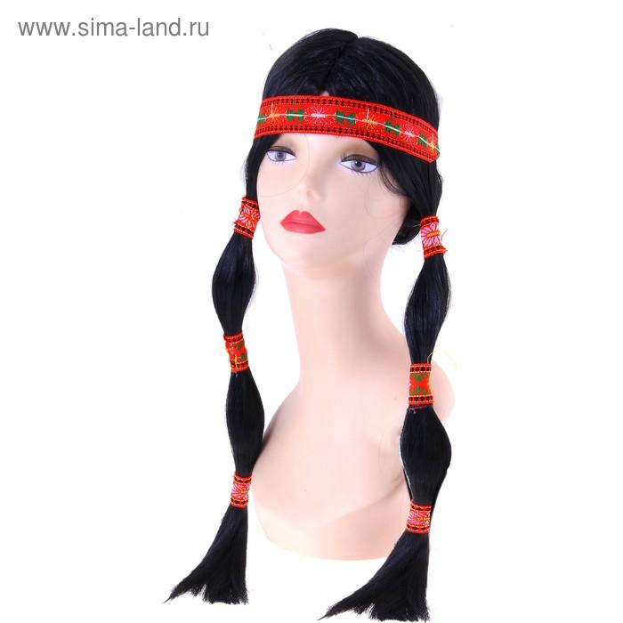 """Карнавальный парик """"Индеец"""", 1 цвет"""