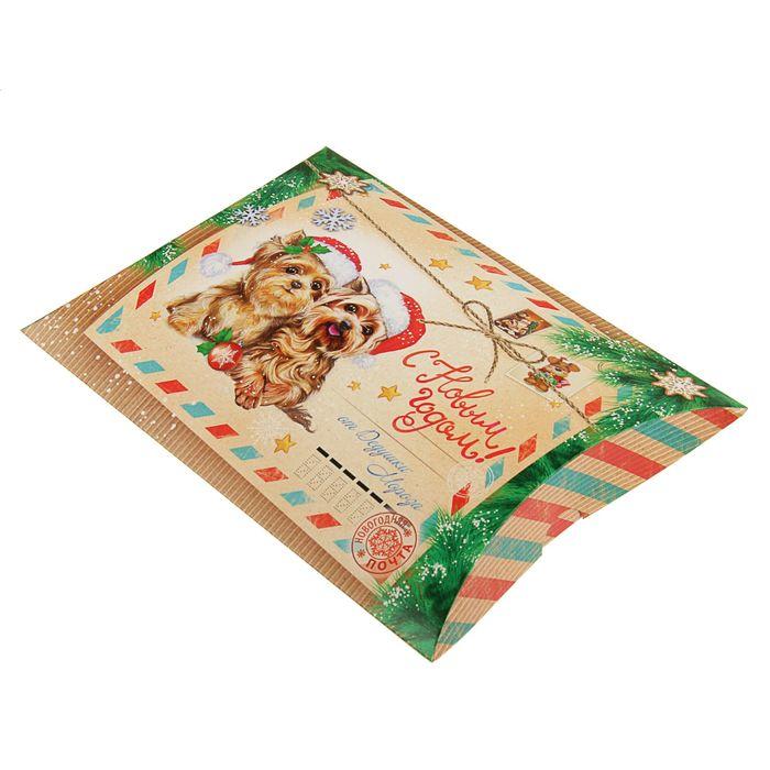 Коробка сборная фигурная «Щенячья почта», 26 х 19 х 4 см