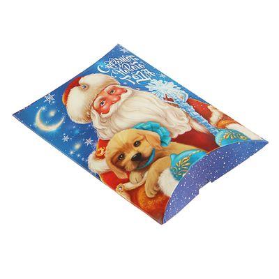 Коробка сборная фигурная «Дед Мороз с собачкой», 11 × 8 × 2 см