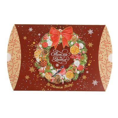 Коробка сборная фигурная «Уюта в новом году!», 19 × 14 × 4 см