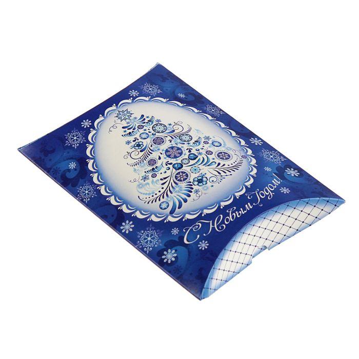 Коробка сборная фигурная «Новогодний узор», 11 × 8 × 2 см