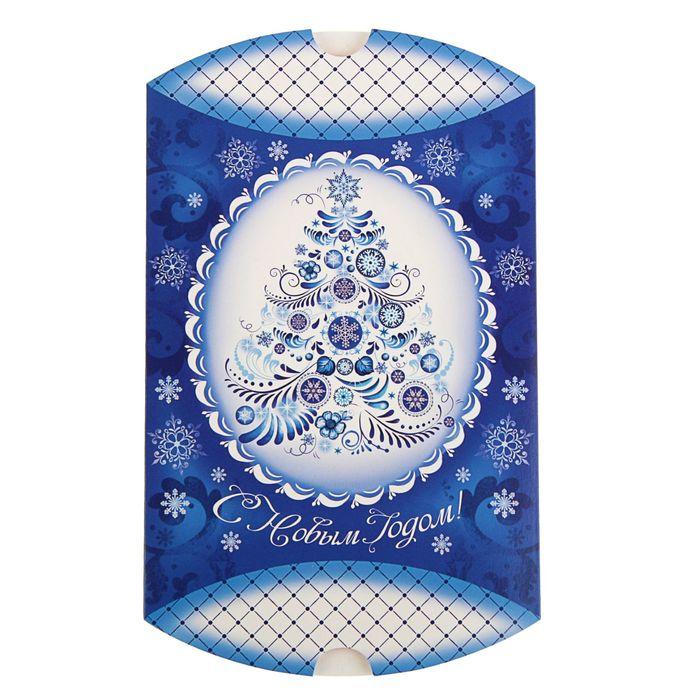 Коробка сборная фигурная «Новогодний узор», 19 × 14 × 4 см
