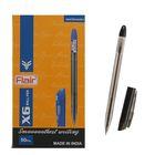 Ручка шариковая Flair X-6 узел-игла 0.6мм, масляная основа, стержень черный F-741
