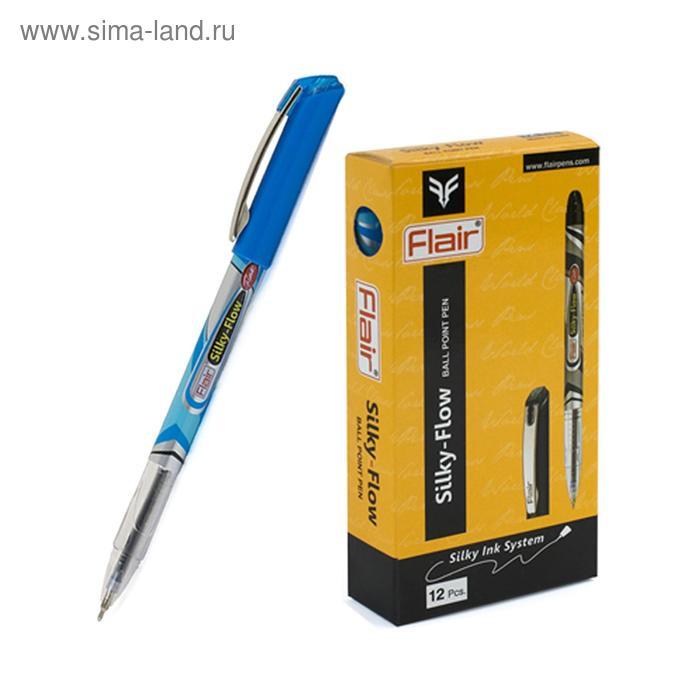 Ручка шариковая Flair Silky Flow узел-игла 0.5мм, масляная основа, мет.зажим, стержень синий F-1154
