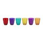 Набор из 3-х стаканов Bormioli Rocco Ercole, объём 230 мл, цветные, открытая цветная упаковка