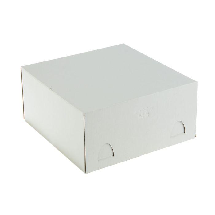 Кондитерская упаковка, короб белый 28 х 28 х 14 см