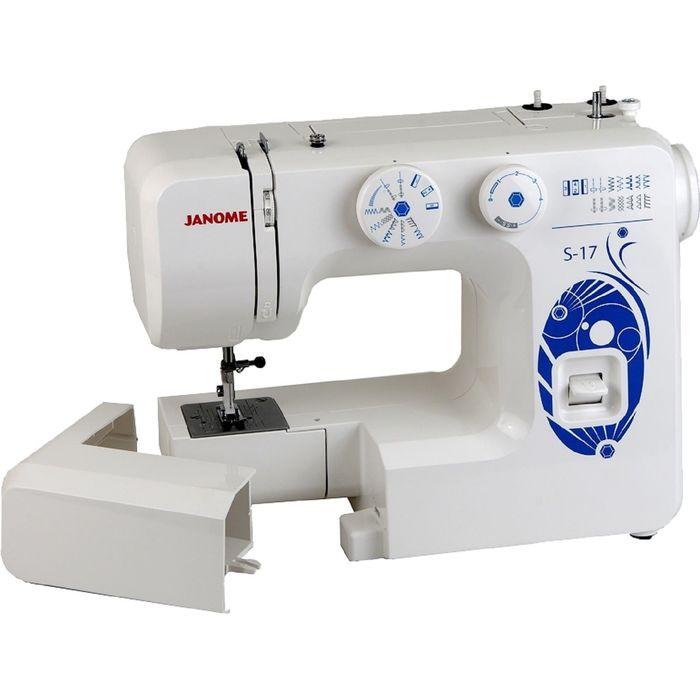 Швейная машина Janome S-17, 15 операций, обметочная, потайная, эластичная строчка