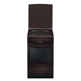 Плита газовая Hansa FCMB53020, 4 конфорки, 67 л, электрическая духовка, коричневая