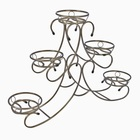 "Подставка под цветы ""Карусель"", 5 горшков 25х95х70 см, цвет бронза"