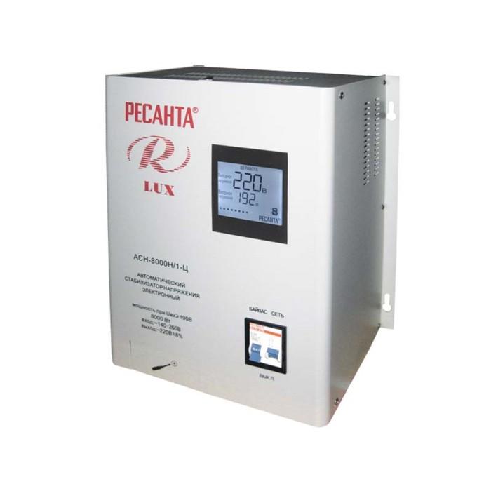 Стабилизатор напряжения Ресанта АСН 8000 Н/1-Ц Lux