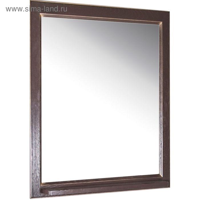 """Зеркало """"Бергамо 65"""", тёмный орех, патина золото"""