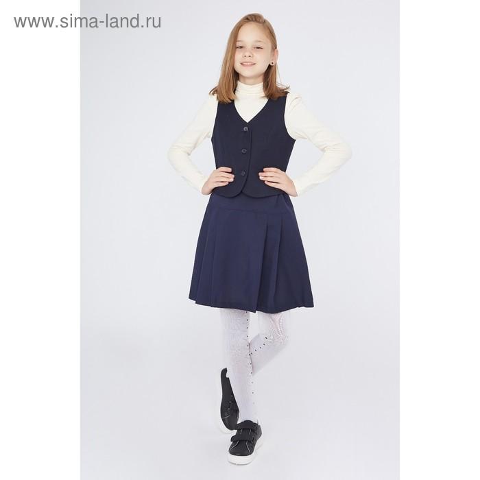 Юбка для девочки, цвет синий, рост 122