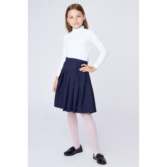Юбка школьная для девочки, рост 158 см, цвет синий