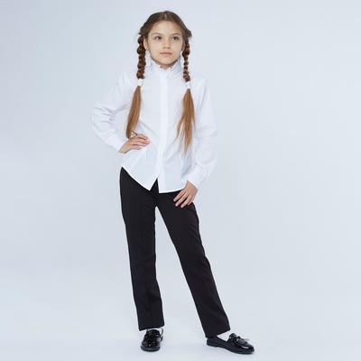 Брюки для девочки, цвет черный, рост 164