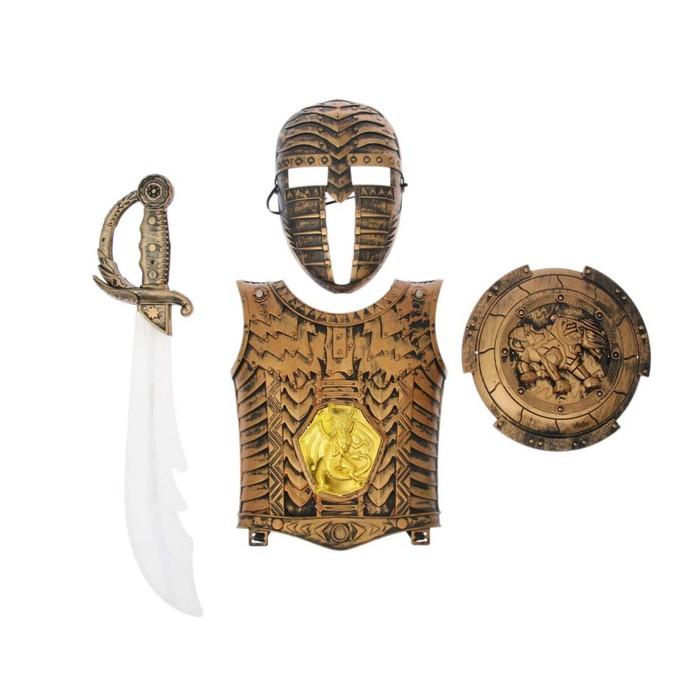 "Набор рыцаря ""Гладиатор"", 4 предмета, в пакете"