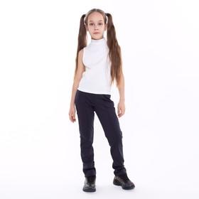 Брюки для девочки, цвет синий, рост 122