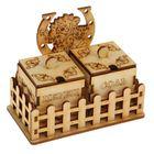 """Набор для специй для декора """"Кузя"""" соль/перец, 3 предмета, 12х10х6,5 см"""