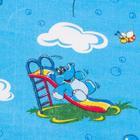 """Детское постельное бельё BABY """"Слоники"""", цвет голубой, 112х147 см, 110х150 см, 60х60 см, бязь 142 гр/м - фото 7922399"""