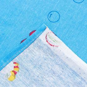 """Детское постельное бельё BABY """"Слоники"""", цвет голубой, 112х147 см, 110х150 см, 60х60 см, бязь 142 гр/м - фото 7922401"""