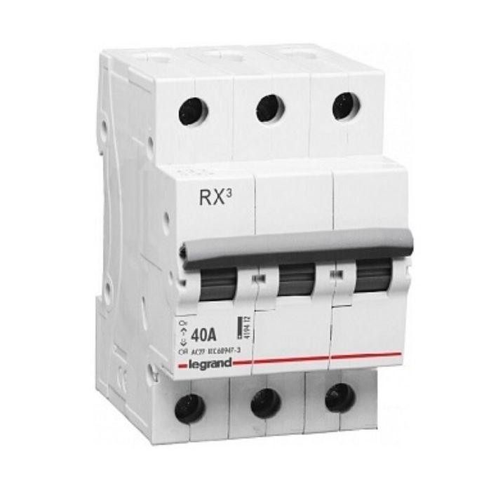 Выключатель-разъединитель Legrand, 3п, 40А, RX3, 419412