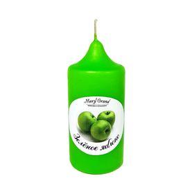 Свеча цилиндр ароматическая «АРОМА», зелёное яблоко, 8.5 х 4 см Ош
