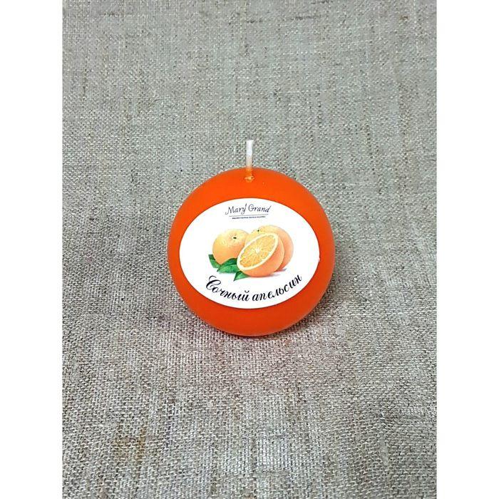 Свеча шар ароматическая «АРОМА», апельсин, D=6 см