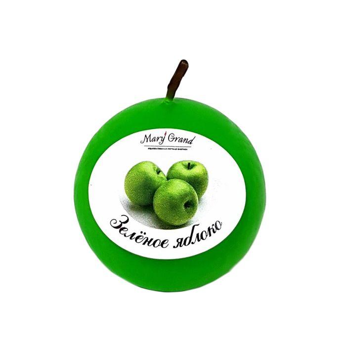Свеча шар ароматическая «АРОМА», зелёное яблоко, D=6 см
