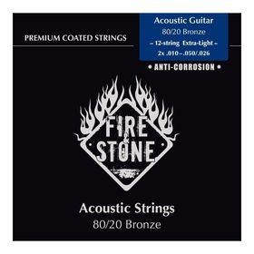 Струны для 12-струнной акустической гитары FIRE&STONE 80/20 Bronze 12-string Extra Light