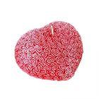 "Свеча ""Ручная работа"" сердце из роз красное 7х8"
