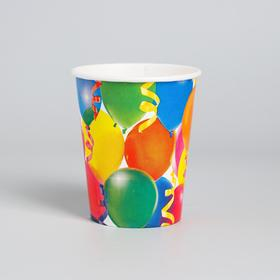 """The paper Cup """"Celebration"""", balloons and streamers, 250 ml"""