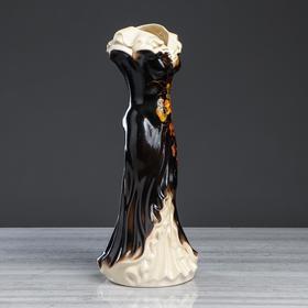 """Ваза напольная """"Платье"""", цветы, 45 см, микс, керамика - фото 2475816"""
