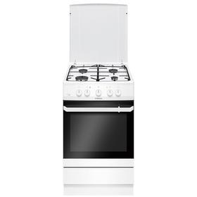 Плита газовая Hansa FCMW53010, 4 конфорки, 67 л, электрическая духовка, белая