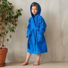 Халат махровый детский, размер 28, цвет синий, 340 г/м2 хл.100% с AIRO - фото 105552973