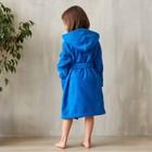 Халат махровый детский, размер 28, цвет синий, 340 г/м2 хл.100% с AIRO - фото 105552976