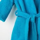 Халат махровый детский, размер 28, цвет морской, 340 г/м2 хл.100% с AIRO - фото 1394925