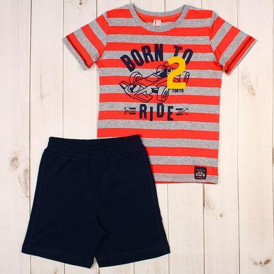 Комплект для мальчика (футболка, шорты), рост 116 см, цвет красный CSK 9651
